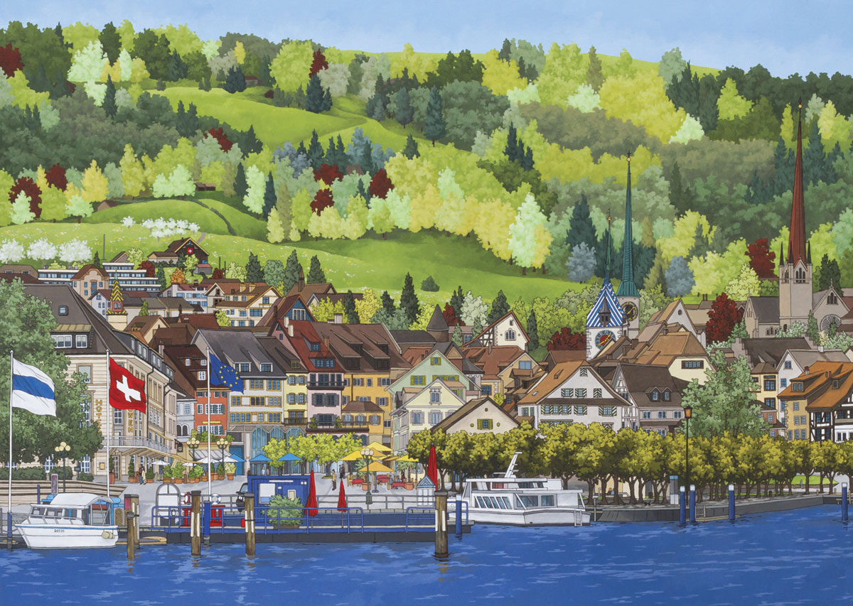 Switzerland Paintings