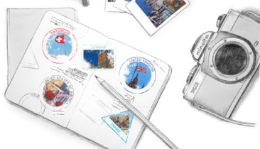 illustrated passport - lets explore - Studio is on the move
