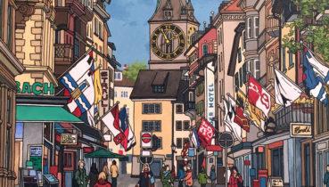 Jonathan Chapman painting Rennweg Zurich.jpg
