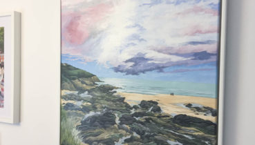 Fistral Beach painted by Jonathan Chapman