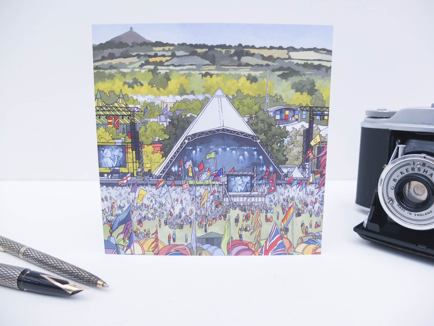 Pyramid Stage Glastonbury Greeting Card