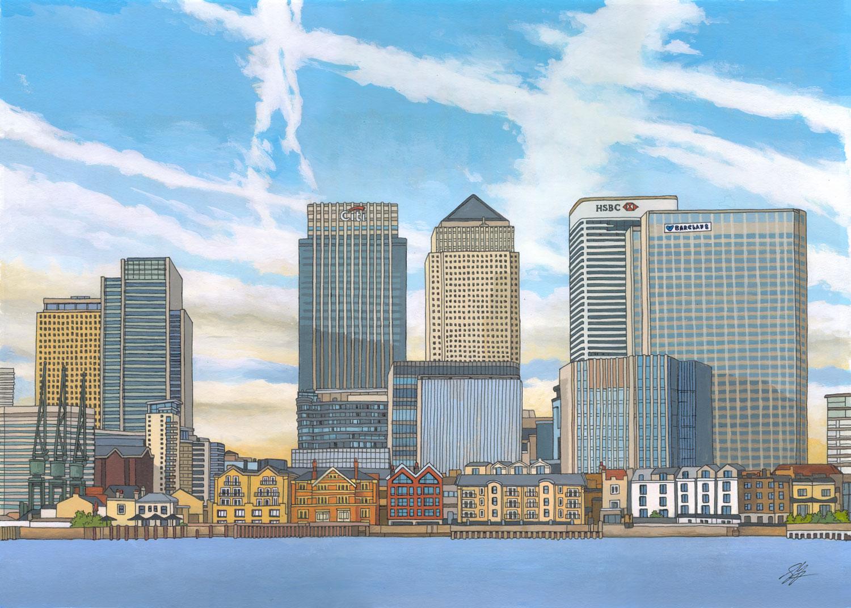 Canary Wharf - London Skylines