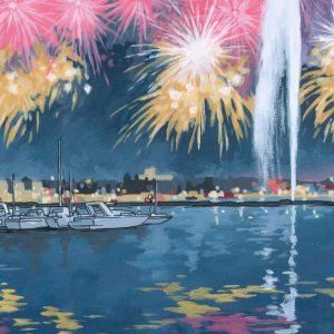 Geneva Fireworks by Jonathan Chapman