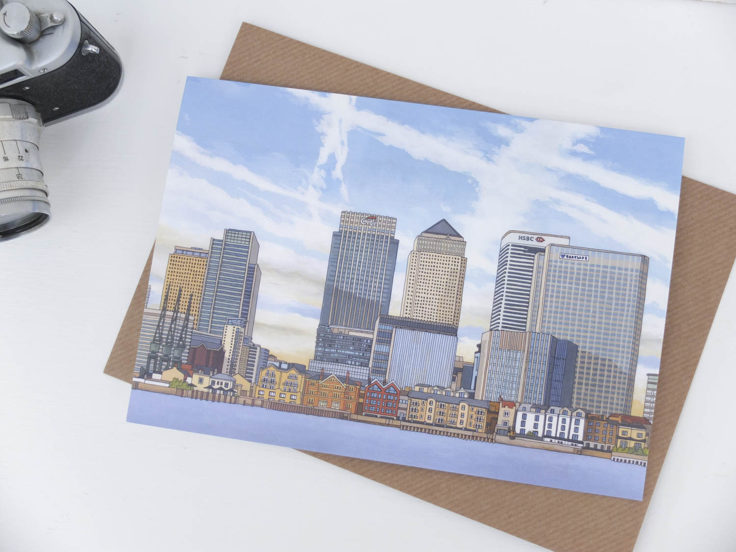 Canary Wharf Greeting Card by Jonathan Chapman