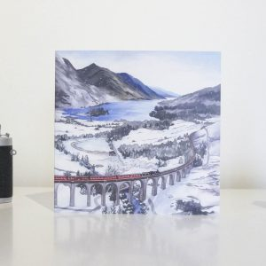 Glefinnan Viaduct Greeting Card by Jonathan Chapman