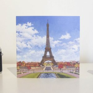 La Tour Eiffel Greeting Card by Jonathan Chapman