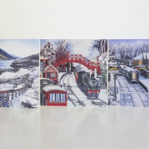 Winter Railway Greeting Card Selection