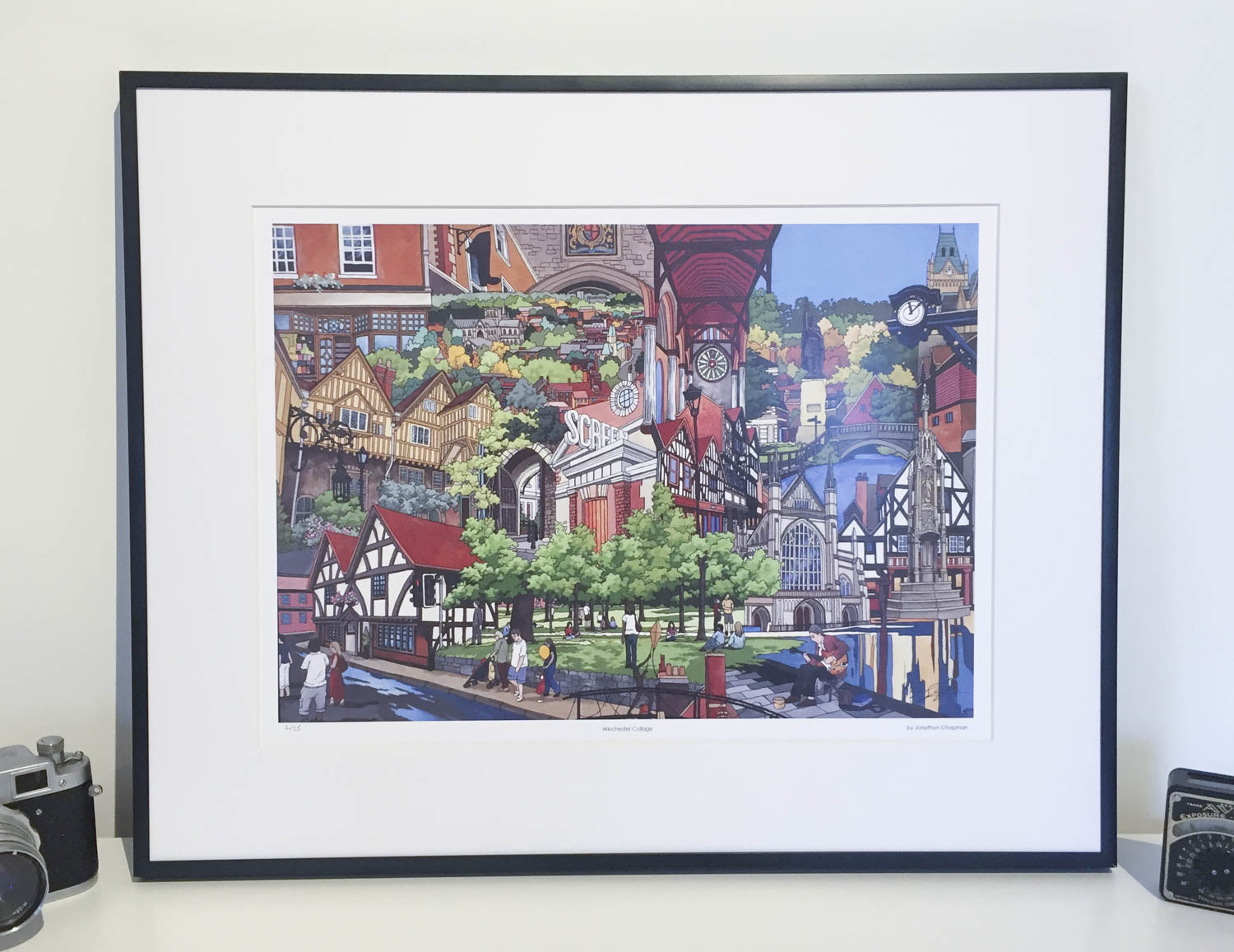 Winchester Collage Limited Edition Print by Jonathan Chapman