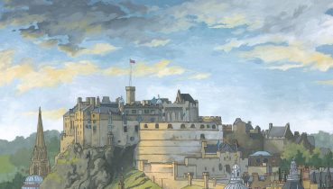 Edinburgh Castle by illustrator Jonathan Chapman