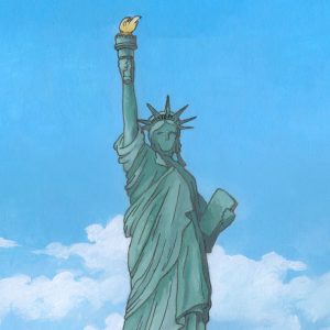 The Statue of Liberty by Illustrator Jonathan Chapman