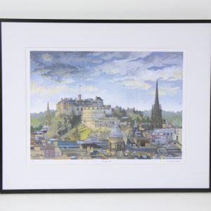 Edinburgh Castle limited edition print by Jonathan Chapman