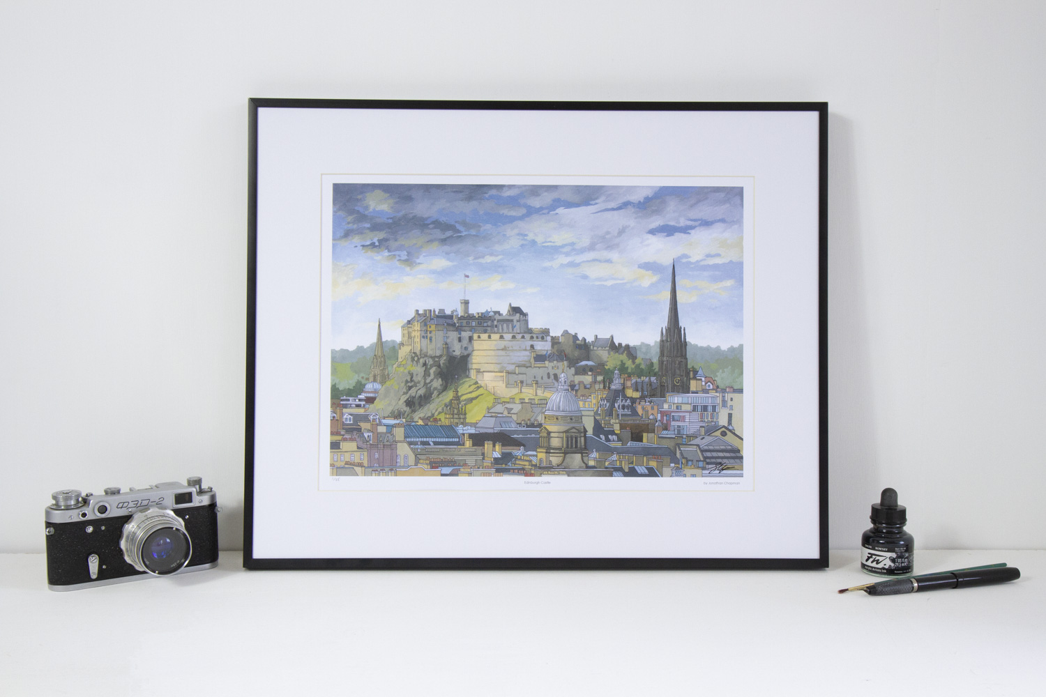 Edinburgh Castle limited edition print by Jonathan Chapman