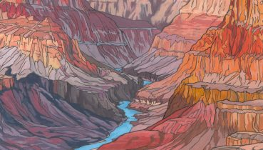 Grand Canyon Illustration by Jonathan Chapman