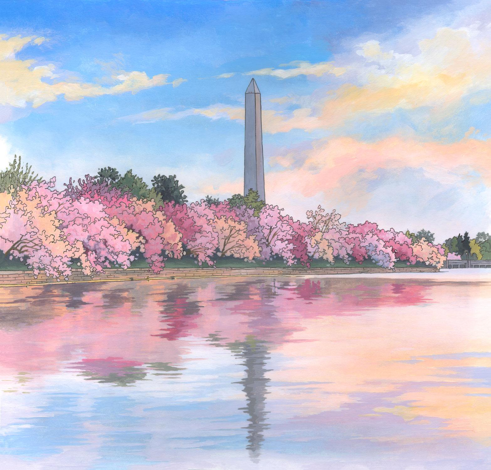 Washington Monument Illustration by Jonathan Chapman