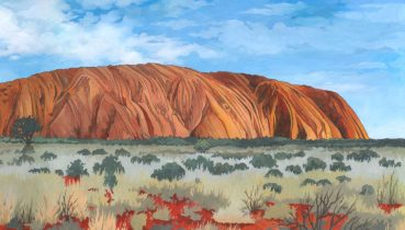 Uluru / Ayers Rock - Illustration by Jonathan Chapman