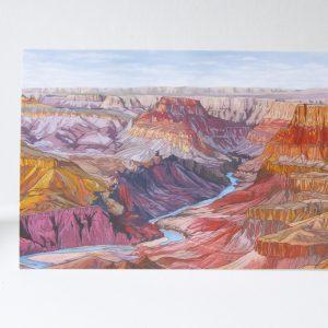 The Grand Canyon Greeting Card - Illustration by Jonathan Chapman