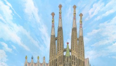 Sagrada Familia, Barcelona - Illustration by Jonathan Chapman