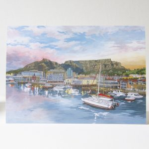 V&A Waterfront Cape Town Greeting Card - Illustration by Jonathan Chapman