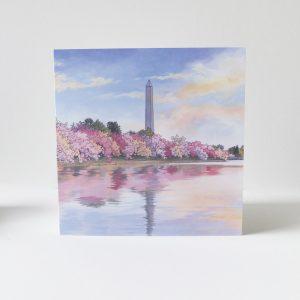 Washington Monument Greeting Card - Illustration by Jonathan Chapman