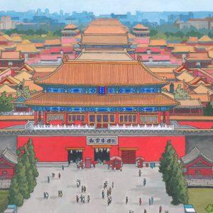 Forbidden City Beijing - Illustration by Jonathan Chapman