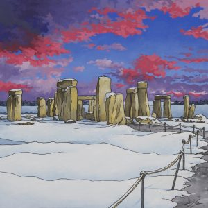 Stonehenge by Twilight by Jonathan Chapman