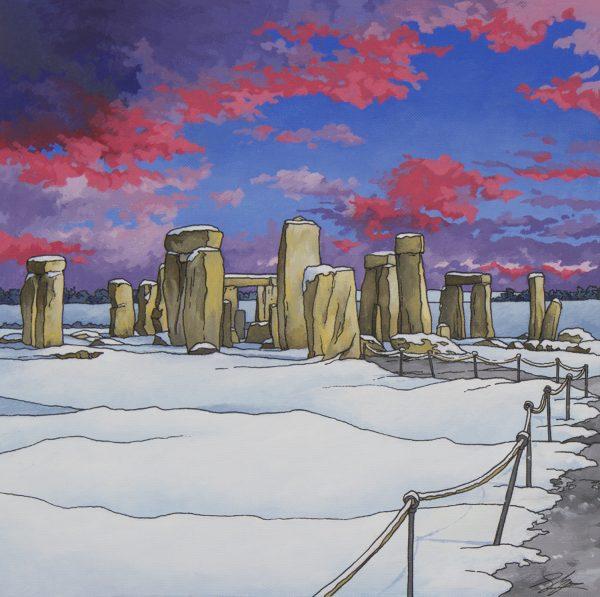 Stonehenge by Twilight by Jonathan Chapman