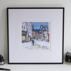 Snow on the High Street Limited Edition Print by Jonathan Chapman