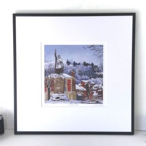 Snowy Alfred Limited Edition Print - Illustration by Jonathan Chapman