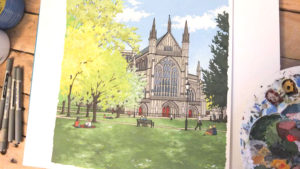 Winchester Cathedral in Spring