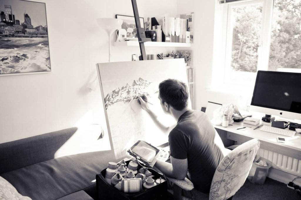 Studio Profile - Illustrator Jonathan Chapman MA
