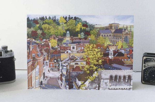 Winchester From the Westgate Greeting Card - Illustration by Jonathan Chapman