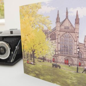 Winchester Cathedral in Spring Greeting Card
