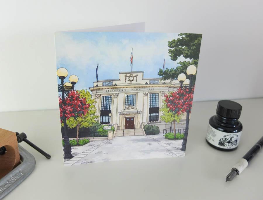 Islington Town Hall Greeting Card