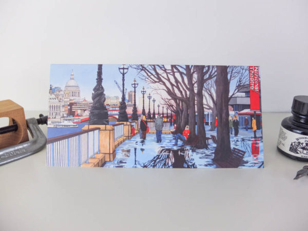 A Theatrical Walk Greeting Card