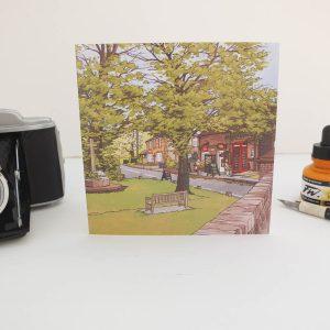 Sparsholt Village Greeting Card