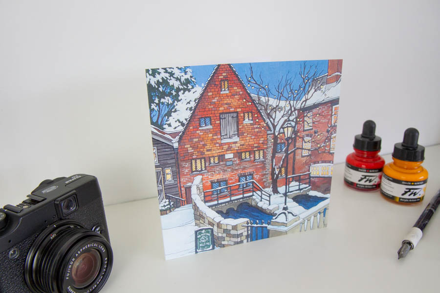 City Mill Winchester Greeting Card
