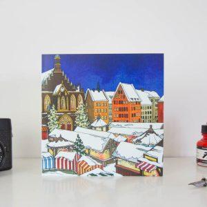 Christmas Market Switzerland Greeting Card