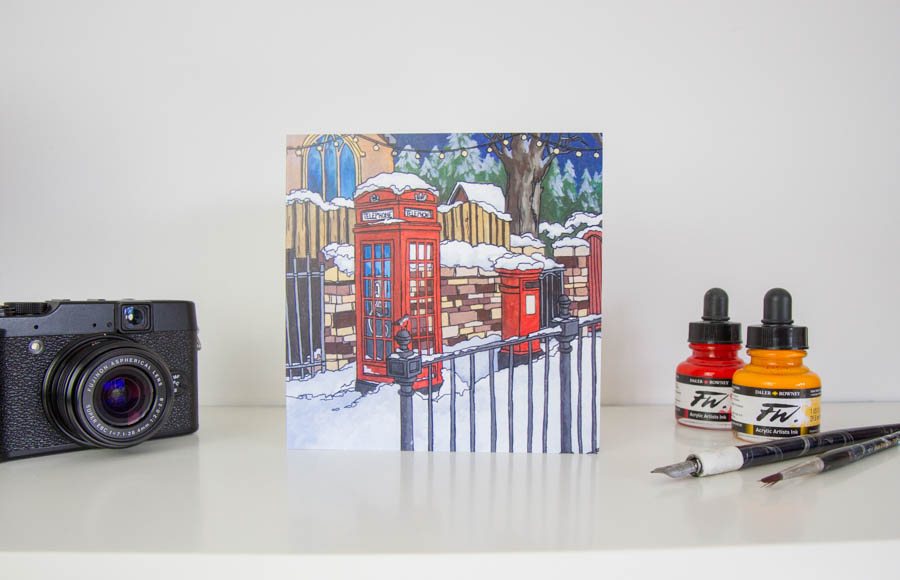 Three Reds in Snow Greeting Card