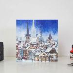 Snowfall Over Zug Greeting Card