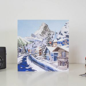 Matterhorn In Blue Greeting Card