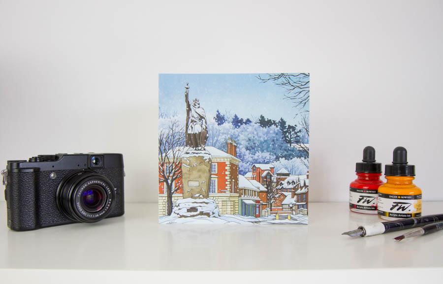 Snowy Alfred Greeting Card