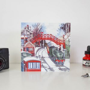 Goathland Steam Engine Greeting Card