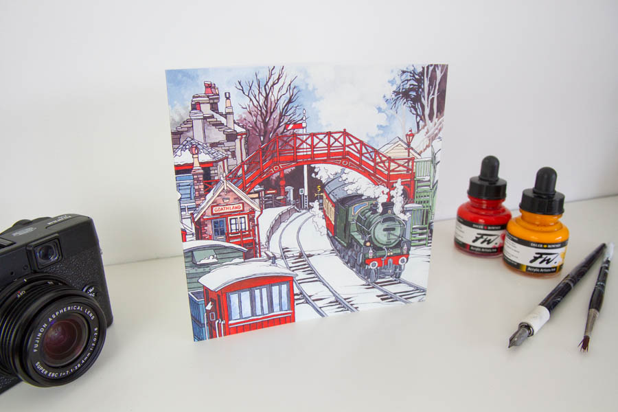 Goathland Steam Train Greeting Card