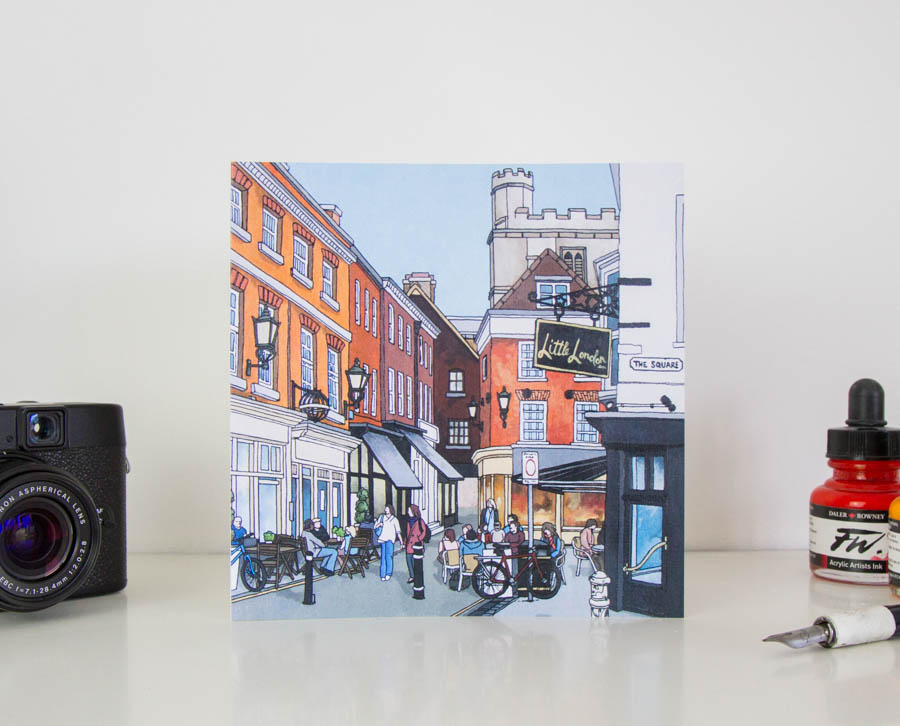 The Square Winchester Greeting card