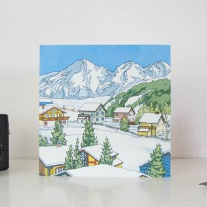 Snow Topped Greeting Card