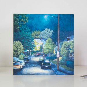 Stroll Through the Nightime Greeting Card