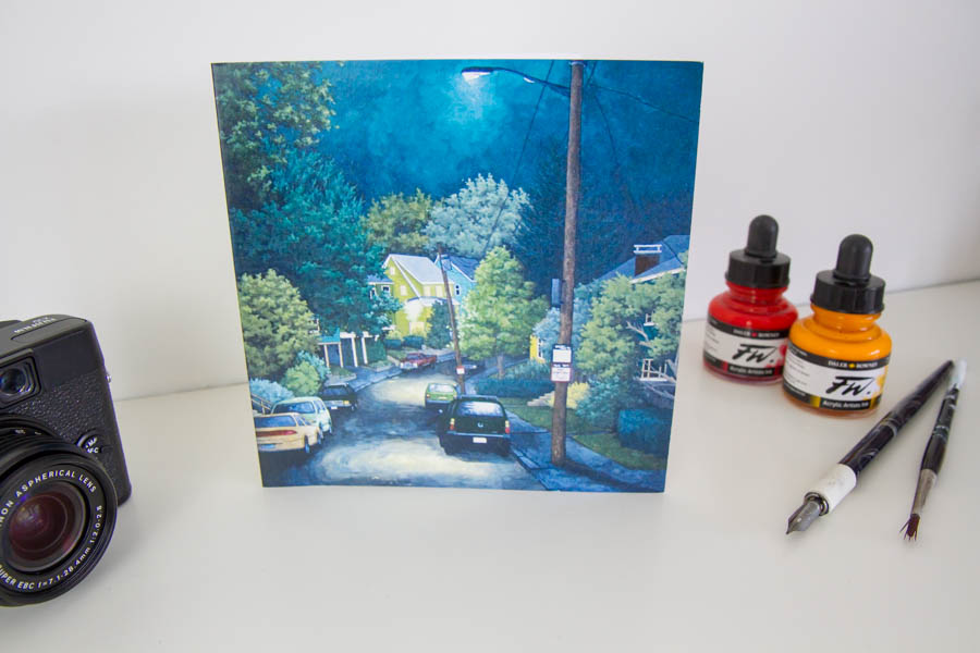Stroll Through the Nightime Greeting Card