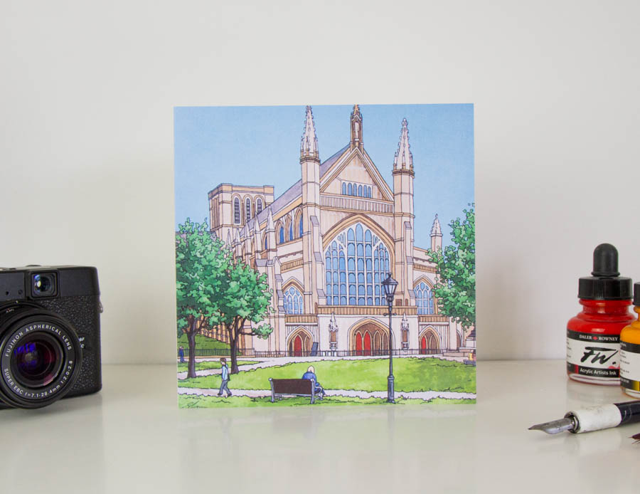 Summer Cathedral Greeting Card
