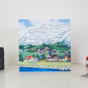 Mountain Village Greeting Card