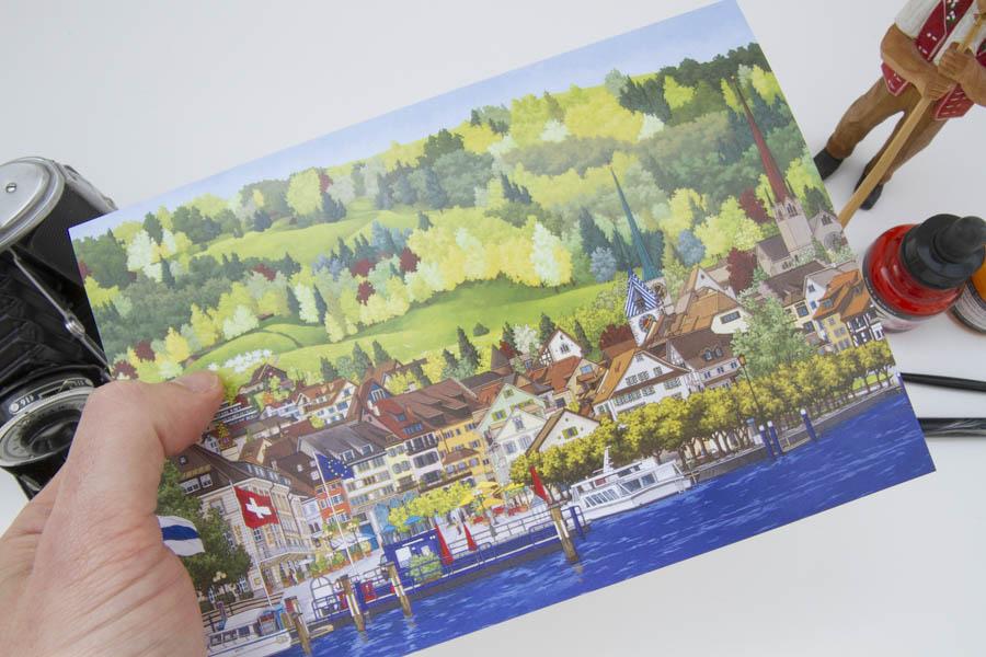 Landsgemeindeplatz Altstadt Zug Greeting card